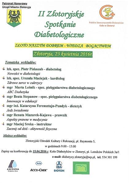 II Złotoryjskie Spotkania Diabetologiczne