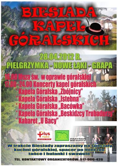 Biesiada Kapel Góralskich - Peilgrzymka - Nowe Łąki - Grapa