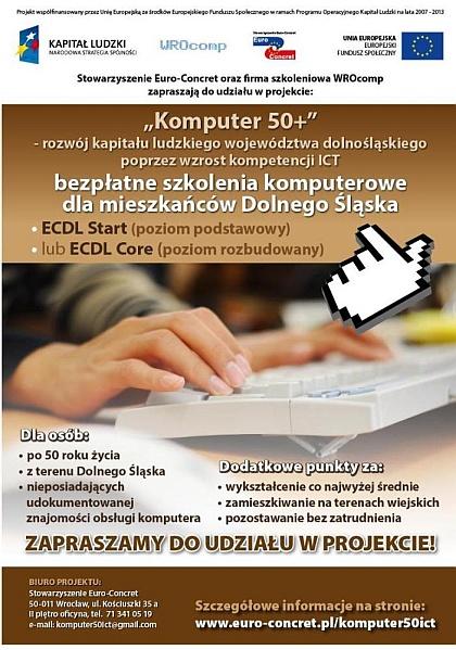 Szkolenie komputer 50+