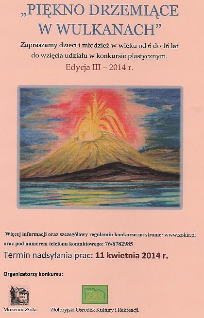 III Edycja Konkursu plastycznego Piękno Drzemiące w Wulkanach