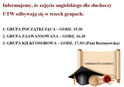 UTW: Zajęcia z języka angielskiego