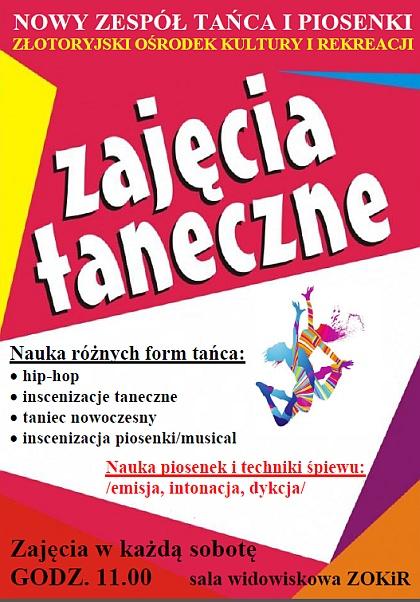 Zajęcia taneczne - nauka różnych form tańca i nie tylko